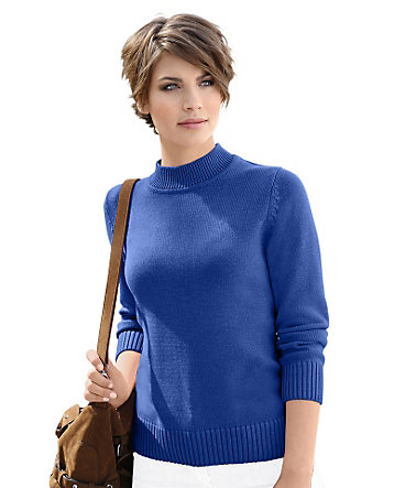 Collection L. Pullover mit Turtleneck-Kragen - royalblau - 3636