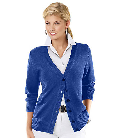 Collection L. Strickjacke in »fully fashioned«-Verarbeitung - royalblau - 3636