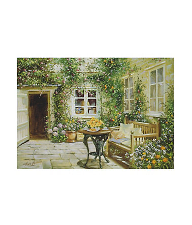 Home affaire, Wandbild, »Courtyard tranquility«, 70/50 cm -