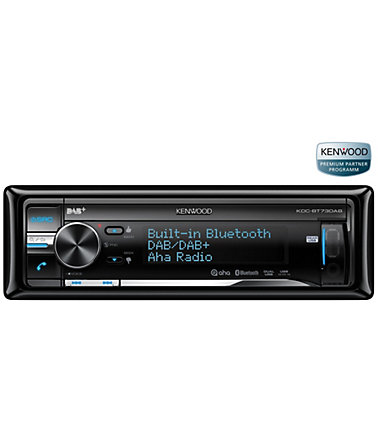 Kenwood 1-DIN Digital-Autoradio »KDC-BT73DAB« - schwarz