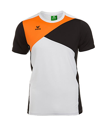 ERIMA Premium One T-Shirt Kinder - weiß/schwarz/orange - 0(128)0
