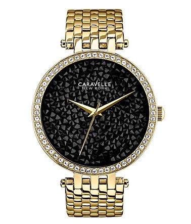 Caravelle New York Quarzuhr »Crystal Rock, 44L121« - goldfarben