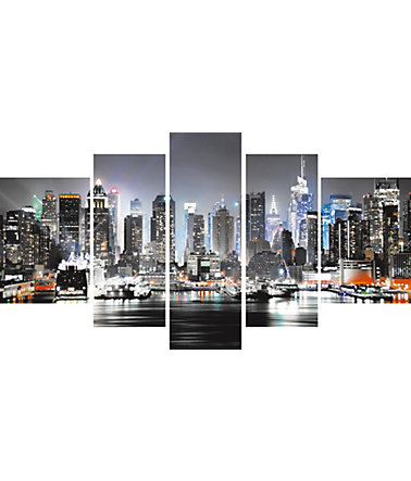 Leinwandbild, Home affaire, »New York City«, 110/60 cm - Grau - 110/60cm110