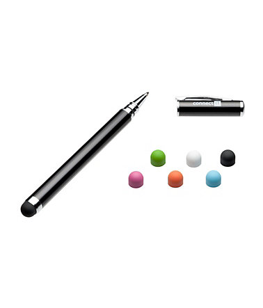 connect IT Stift »IT Stylus Ball Point Pen 8mm Schwarz« - schwarz