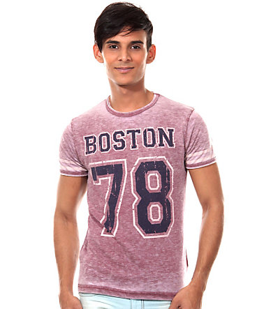 R-NEAL T-Shirt Rundhals slim fit - bordeaux - L0