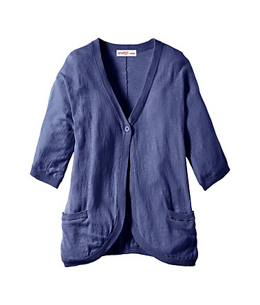 sheego Casual Legere Strickjacke - jeansblau - 40/4240
