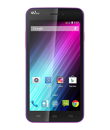 Wiko LENNY Smartphone, 12,7 cm (5 Zoll) Display, Android 4.4, 5,0 Megapixel - lila