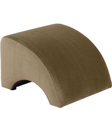 Max Winzer® Hocker »Borano« - sand - Samtvelours
