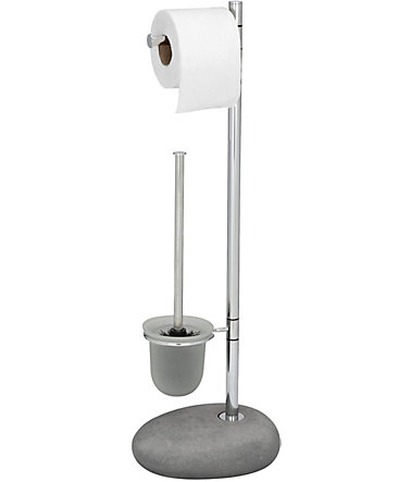 WENKO Stand WC-Garnitur Pebble Stone Grey - grau