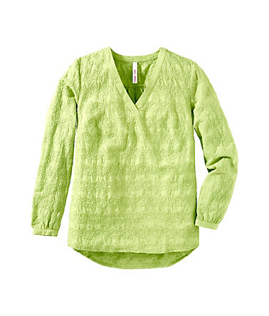 sheego Casual Feine Tunika - limette - 4040