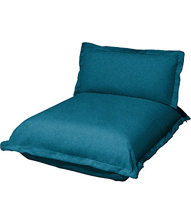 TOM TAILOR Chaiselongue kurz »CUSHION«, Sitztiefe 65 cm - petrolgreenTBO3 - StrukturfeinTBO
