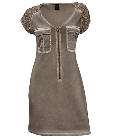 B.C. BEST CONNECTIONS by Heine Jerseykleid mit Spitze - taupe - 3636