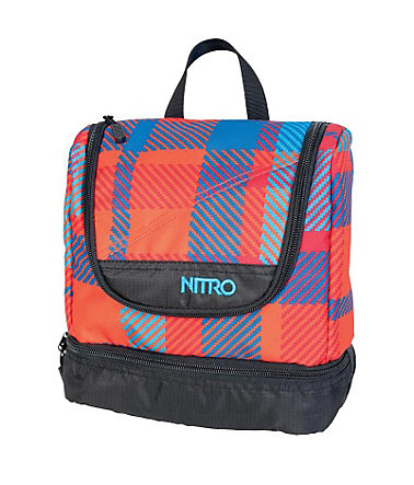 Nitro Reise-Waschbeutel, »Travel Kit - Plaid Red-Blue« -