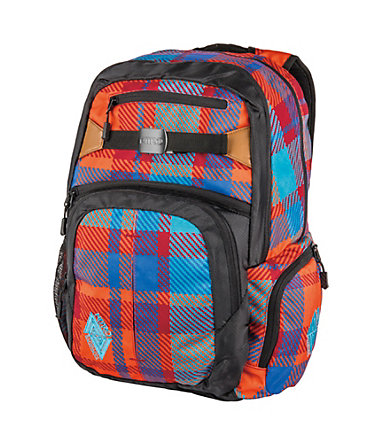 Nitro Schulrucksack, »Hero - Plaid Red-Blue« -