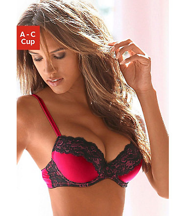 Vivance Push-up-BH  - rot-schwarz - CupC