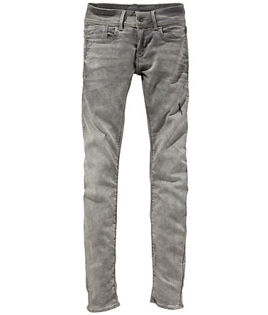 G-Star Röhrenjeans »Lynn Mid Skinny Superstretch« - grey-used - 3131 - Länge32