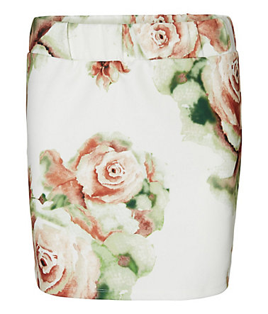 Vero Moda Flower Mini skirt - SnowWhite2 - S(S)0