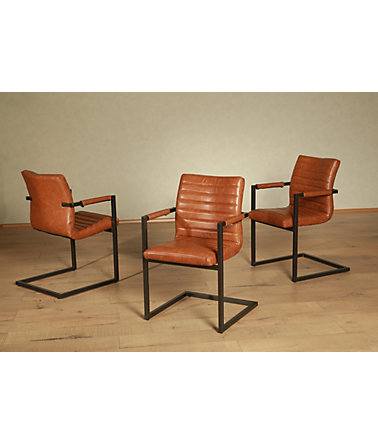 Freischwinger, Premium collection by Home affaire,  »Parzival« (2er, 4er oder 6er Set) - cognac - 2erSet
