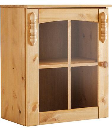 h ngevitrine sylt mit 1 glast r k chenh ngeschr nke. Black Bedroom Furniture Sets. Home Design Ideas