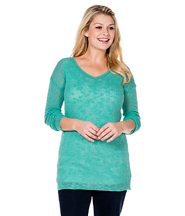 sheego Casual Pullover in transparenter Optik   - mint - 40/4240