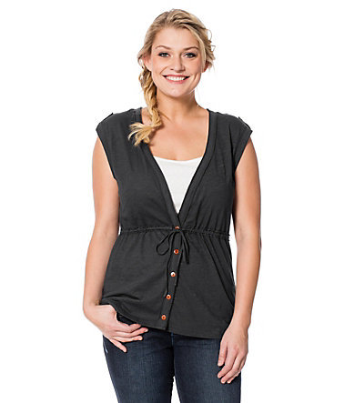 sheego Casual Komfortable Weste - anthrazit - 40/4240