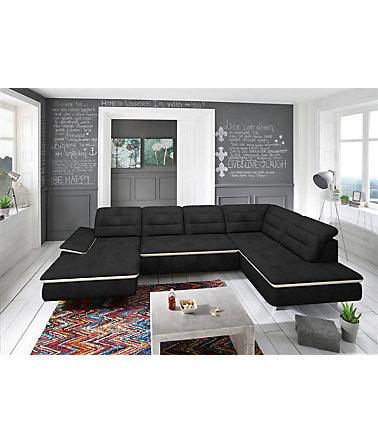 trendmanufaktur wohnlandschaft wahlweise mit bettfunktion wohnlandschaften. Black Bedroom Furniture Sets. Home Design Ideas