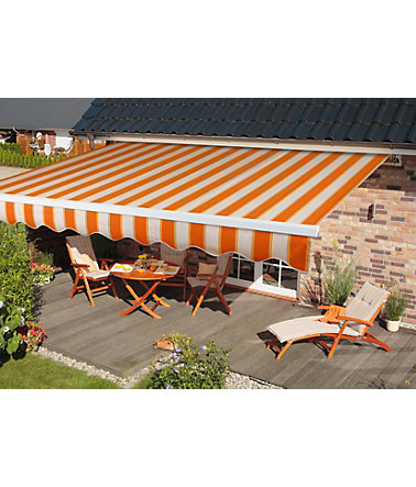 CLEANGARD Gelenkarmmarkise »PG1« - 200cm - creme/orange