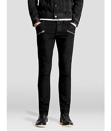 Jack & Jones Glenn Biker SC 616 Slim Fit Jeans - BlackDenim - Weite290 - Länge34