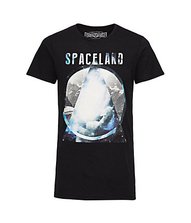 Jack & Jones Bedruckt, lange Passform T-Shirt - Black - L0