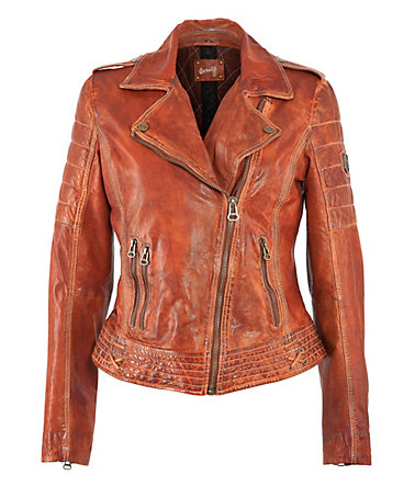 MAZE Lederjacke, Damen »Boras« - orange - L0