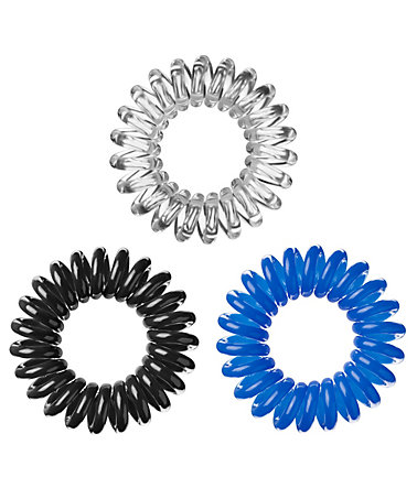 Invisibobble, Spiral-Haargummi (9-tlg. Set) - Black/Crystal/Blue