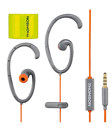 Thomson EAR5205 Clip-On-Sportohrhörer Flex - Grau