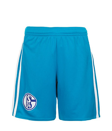 adidas Performance FC Schalke 04 Short Away 2015/2016 Kinder - hellblau/weiß - 128-XS128
