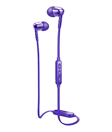 Philips In Ear Headset mit NFC »SHB5900/00« - lila
