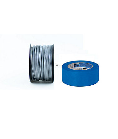 except Startkit mit Fixier-Klebeband »Set: PLA-Filament 1.75 + Blue Tape« - moonshinesilver