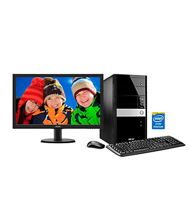 Hyrican PC Set, Intel G3250, 8GB, 1TB, Windows 10 + Monitor »PC-Set SET00964« -