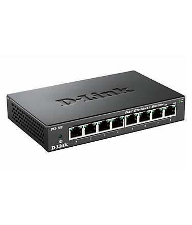 D-Link Switch »DES-108 8-Port Layer2 Fast Ethernet Switch« - Schwarz