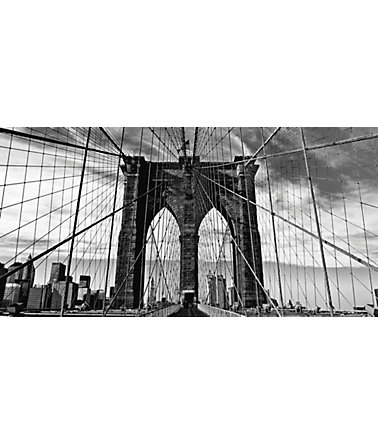 Home affaire Leinwandbild »Peter Knif: Brooklyn Bridge«, 100/50 cm - Schwarz/Weiß - (B/H):100/50cm0