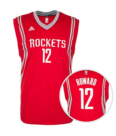 adidas Performance Houston Rockets Howard Replica Basketballtrikot Herren - rot/grau/weiß - L-540