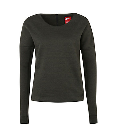 Nike Sportswear Tech Fleece Crew Sweatshirt Damen - khaki - L-44/460
