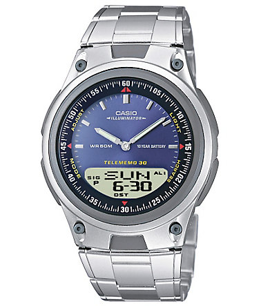 Casio Collection Chronograph »AW-80D-2AVES« - silberfarben