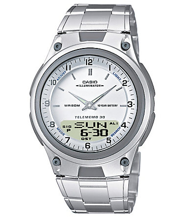 Casio Collection Chronograph »AW-80D-7AVES« - silberfarben