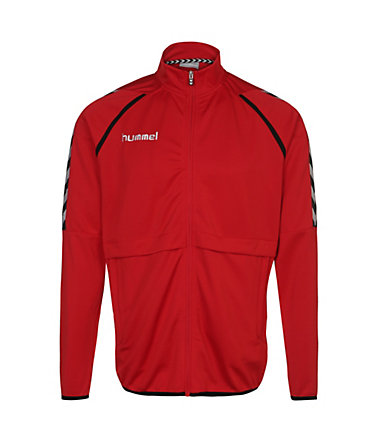 Hummel Stay Authentic Poly Trainingsjacke Herren - rot/weiß/schwarz - L0