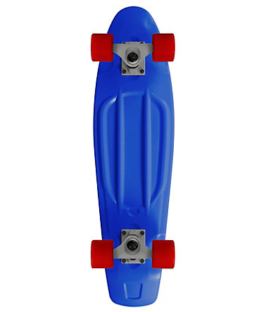 Ram Mini Cruiser Skateboard, »Old School« - blau-rot