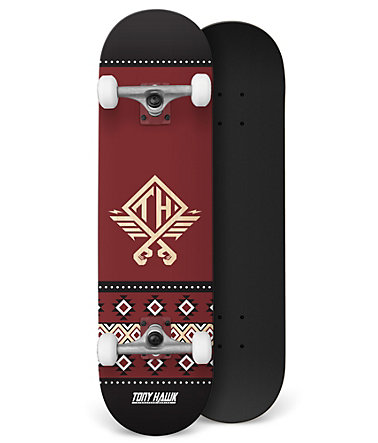 Tony Hawk Skateboard, »Native Andorra« - rot-schwarz