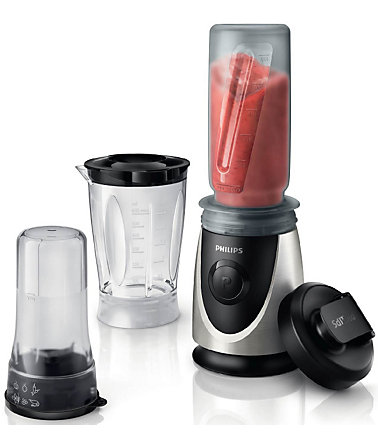 Philips Standmixer HR2876/00, 350 Watt - chrom/schwarz