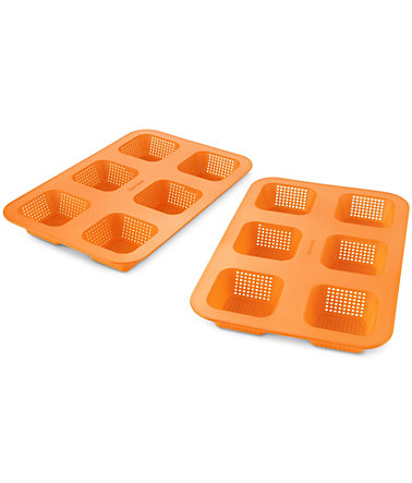 Betty Bossi Minibrötchen-Backform (2er Set) - orange