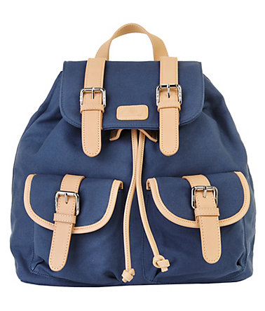ELITE MODEN Canvas Damen Rucksack - blau