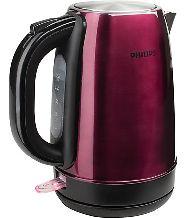 Philips Wasserkocher, HD9322/33, 1,7 Liter, 2200 Watt - burgund