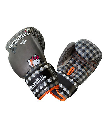 Ju-Sports Kinder Boxhandschuhe, »Hello Kitty Teddy Rock« - grau - 1=10oz
